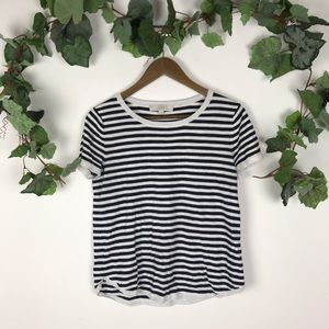 COPY - Loft Short Sleeve Black & White Top